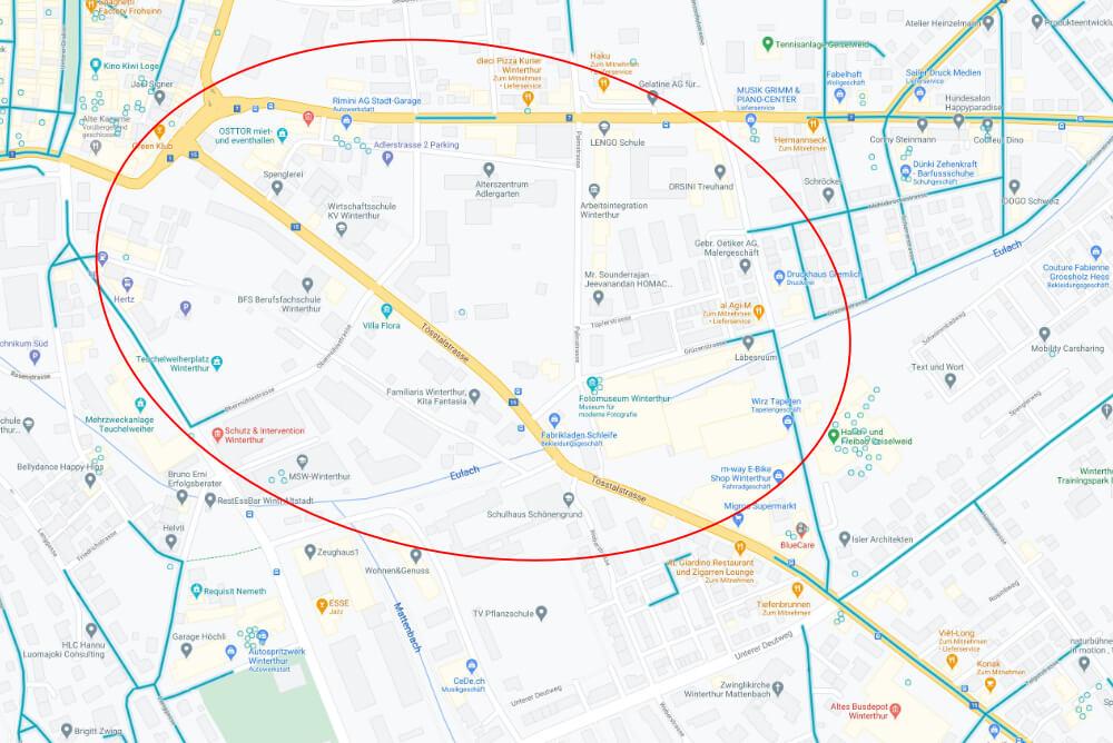 Fehlende Google Street View Aufnahmen