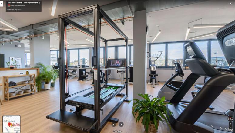 Virtueller 360° Rundgang Fitness & Physio
