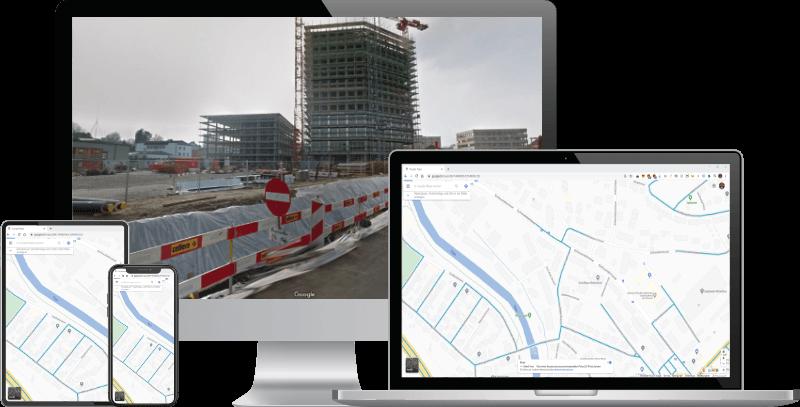 Google Maps Street View nachführen